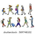 vector illustration of people... | Shutterstock .eps vector #589748102
