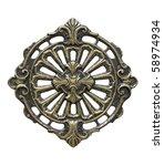 metal lattice on white... | Shutterstock . vector #58974934