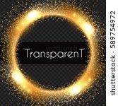 transparent light effect.... | Shutterstock .eps vector #589754972
