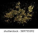 gold grunge texture to create... | Shutterstock .eps vector #589755392
