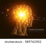 shining network human head.... | Shutterstock .eps vector #589762502
