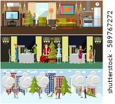 vector set of banners with new... | Shutterstock .eps vector #589767272