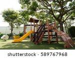 set of children playground... | Shutterstock . vector #589767968