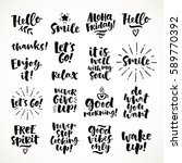 vector set of hand drawn... | Shutterstock .eps vector #589770392