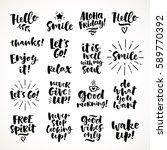 vector set of hand drawn... | Shutterstock .eps vector #589770392