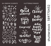 vector set of hand drawn... | Shutterstock .eps vector #589770452