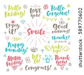 vector set of hand drawn... | Shutterstock .eps vector #589770602