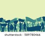 protest people crowd and broken ... | Shutterstock .eps vector #589780466