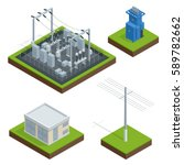 electric energy factory... | Shutterstock .eps vector #589782662