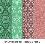 set of romantic geometric... | Shutterstock .eps vector #589787852