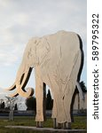 Small photo of ISERNIA 15 February 2017: Representative of the Icon of the Paleolithic Museum of the City of isernia, the elephant with eserniensis homo, editorial use