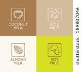 vector set of packaging design... | Shutterstock .eps vector #589807046