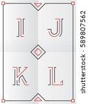 elegant  stylish and minimal... | Shutterstock .eps vector #589807562