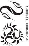 tattoo design | Shutterstock .eps vector #58980841