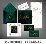 tony wedding invitation suite... | Shutterstock .eps vector #589820162