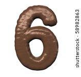 Chocolate Number - stock photo