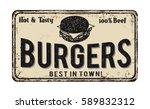 burgers vintage rusty metal... | Shutterstock .eps vector #589832312
