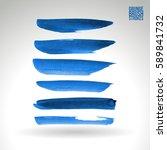 brush stroke and texture.... | Shutterstock .eps vector #589841732