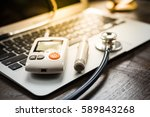 technology and medicine  ... | Shutterstock . vector #589843268