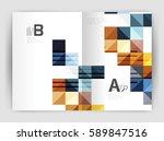 vector square template... | Shutterstock .eps vector #589847516