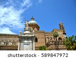 palermo majestic cathedral of... | Shutterstock . vector #589847972