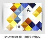 vector square minimalistic... | Shutterstock .eps vector #589849802