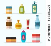 tubes and vials cosmetics for... | Shutterstock .eps vector #589851206