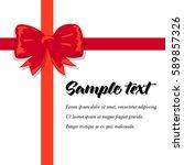 vector illustration of a bow...   Shutterstock .eps vector #589857326