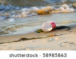 Plastic Bottle Litter On The...