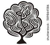 beautiful tree. vector... | Shutterstock .eps vector #589864586