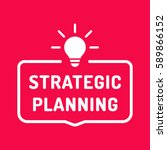 strategic planning. badge with... | Shutterstock .eps vector #589866152