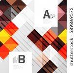modern geometrical square...   Shutterstock .eps vector #589869572