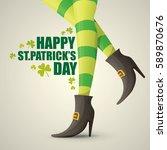 vector creative saint patrick... | Shutterstock .eps vector #589870676