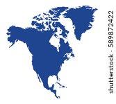 vector map   north america  on... | Shutterstock .eps vector #589872422