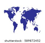 vector  world map on white... | Shutterstock .eps vector #589872452