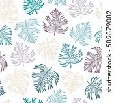 tropical seamless pattern with... | Shutterstock .eps vector #589879082