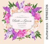 vintage wedding invitation | Shutterstock .eps vector #589883246