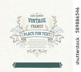design elements and frames ... | Shutterstock .eps vector #589886546