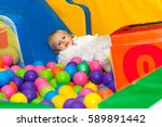 little cute girl playing in the ...   Shutterstock . vector #589891442
