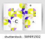 abstract background with color... | Shutterstock .eps vector #589891502