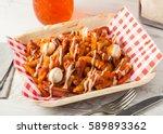colombian food  salchipapas... | Shutterstock . vector #589893362