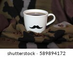 Men's Cup With Mustaches On A...