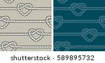 seamless pattern  hearts. two... | Shutterstock .eps vector #589895732