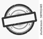 classic empty grunge rubber... | Shutterstock .eps vector #589902485
