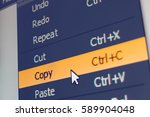 software menu item with copy... | Shutterstock . vector #589904048