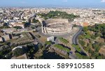 aerial close to colosseum also... | Shutterstock . vector #589910585