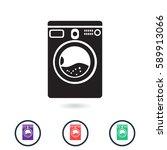 washer mashine icon | Shutterstock .eps vector #589913066
