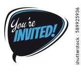you're invited retro speech... | Shutterstock .eps vector #589925936