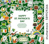 saint patrick's day traditional ...   Shutterstock .eps vector #589929266