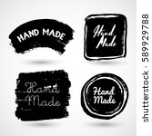 handmade  crafts workshop  made ... | Shutterstock .eps vector #589929788